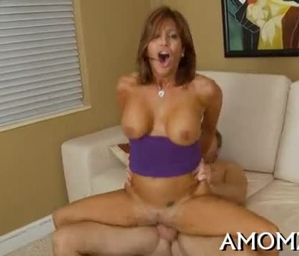 Hungry mom loves throat fucking