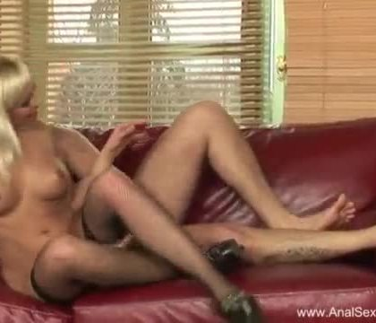 MILF Blonde Deserves Rough Anal Sex